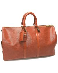 Louis Vuitton - Epi Keepall 45 Hand Bag Duffle Bag Epi Leather M42973 - Lyst