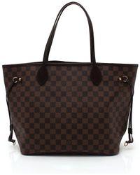 Louis Vuitton | Neverfull Mm Tote Bag Damier Ebene Pvc Leather Tea | Lyst