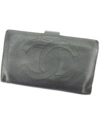 8b138bcbface Chanel - Wallet Purse Wallet Caviar Skin Coco Mark Ladies Men  s Used T2349