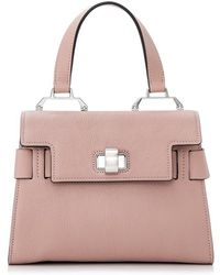 be386b95939 Lyst - Miu Miu Madras Top Handle Bag in Black