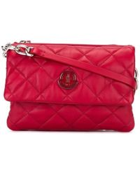 Moncler - Poppy Quilted Leather Crossbody Red - Lyst