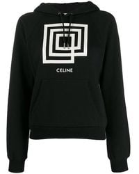 Céline Show Invitation Labyrinth Printed Hoodie Black/white
