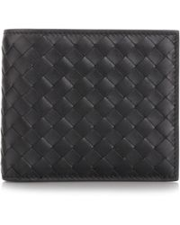 "Bottega Veneta - Wallets Fw18 Black ""intrecciato"" Wallet - Lyst"