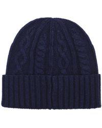 Brunello Cucinelli - Hats Fw18 Blue Knit Cashmere Hat - Lyst
