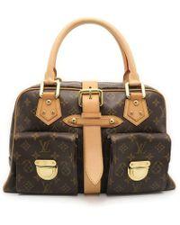 Louis Vuitton | Monogram Manhattan Gm Shoulder Bag Brown M40025 9558 | Lyst