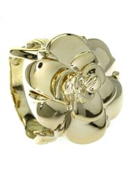 Chanel | 18k Yellow Gold Ring Camelia | Lyst