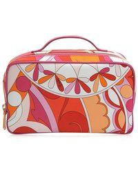 Emilio Pucci - Capri Big Case Bag In Orange Printed Nylon - Lyst
