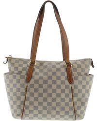 6bc9296359ab Louis Vuitton - Auth Damier Azur Canvas Totally Pm Shoulder Tote Bag N51261  - Lyst