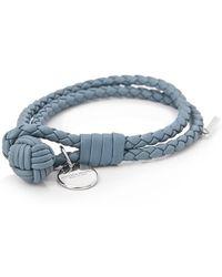 7e7fcc0e51f9e Bottega Veneta Double-stranded Bracelet in Blue for Men - Lyst
