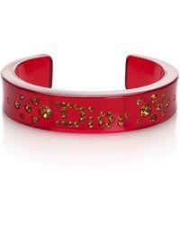 Dior Red Rhinestone Bangle