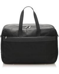 Loewe Black Anagram Leather Travel Bag
