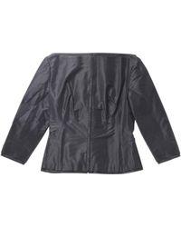Givenchy Apparel Three-quarter Sleeve No Collar Jacket Skirt Suit Setup Black