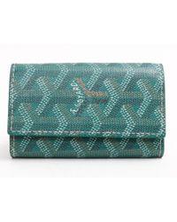 Goyard | 6keycase Keyholder Coating Canvas Leather Green | Lyst