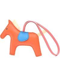 Hermès - Rodeo Mm Charm Horse Hair Orange Poppy / Blue Zanzibal / Azale / Malachite - Lyst