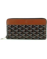 Goyard | Matignon Zipped Around Long Wallet Pvc Leather Black Brown 90032274.. | Lyst