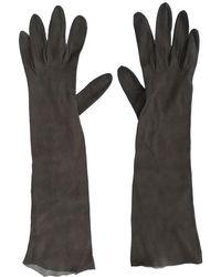 Dior - Christian Shoulder-length Gloves Brown Suede ; - Lyst