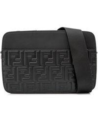 31cee3579d6d Lyst - Fendi Brown Zucca Spalmati Messenger Bag in Brown for Men