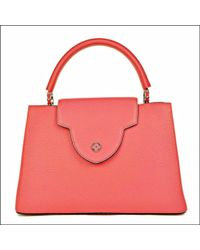 Louis Vuitton | Hand Bag Capucines Mm Taurillon Leather Rose Rich (dark Pink) M94671 (s) | Lyst