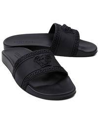 Versace Medusa Slides - Black