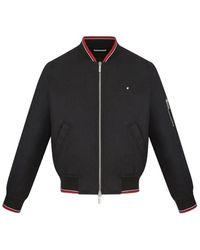 Dior Homme - Jacket, Ribbed Edging With Red Stripes, Black Nylon - Lyst