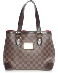 Louis Vuitton - Authentic Hampstead Pm Tote Bag N51205 Damier Used Vintage - Lyst