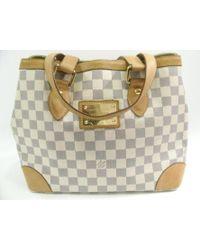 01386c64663c Louis Vuitton - Hampstead Pm Tote Bag White Damier Azur Canvas N51207 - Lyst