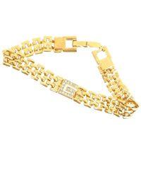 Givenchy - Vintage Rhinestone G Logo Gold Pristine Bracelet. - Lyst