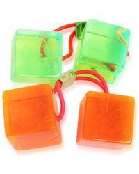 Louis Vuitton - Hair Cube 2 Set Hair Accessory Orange Green - Lyst