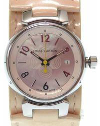 Louis Vuitton - Q 1216 Tambourwristwatch Silver Stainless Steel Lv 0204 - Lyst