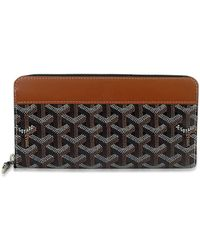 Goyard - Round Zip Wallet Black/brown/yellow Pvc/leather Shw[brand New][authentic] - Lyst