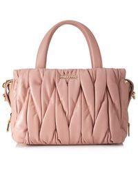Miu Miu - Matelasse Top Handle Bag - Lyst