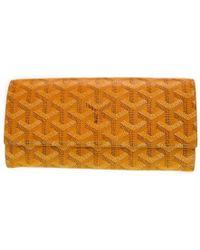 Goyard | Folded Long Wallet Varennelong Wallet Yellow Pvc Coating Canvas 0348 | Lyst