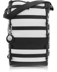 Balmain | American Flag Black And White Patchwork Leather Men's Cruise Backpack | Lyst