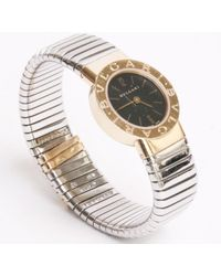 BVLGARI | Watch Tubogas Gold And Steel | Lyst