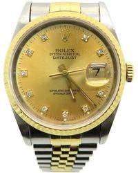 Rolex - Datejust Watch 16233g/s Stainless Steel Gold 8672 - Lyst