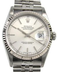 Rolex - Auth Datejust Watch 16234 Automatic K18wg (750) X Stainless Steel Used - Lyst