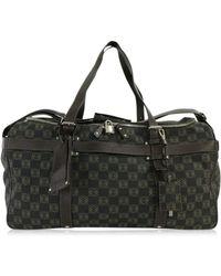 Loewe - Anagram Model Pvcx Leather Travel · Boston Bag 2 Wayshoulder / Dark Gray X Dark Brown / - Lyst