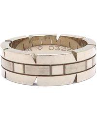 Cartier - Tank Francaise Ring #50 18k White Gold 6195 - Lyst