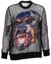 Givenchy Pre-owned Rottweiler Organza Top - Black
