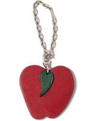 Hermès - Key Chain Apple Motif Bag Charm Leather Sv925 - Lyst