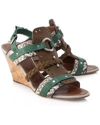 Proenza Schouler Pre-owned Leather And Cork Wedges - Brown