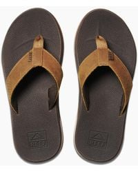 Reef Leather Fanning Low - Brown