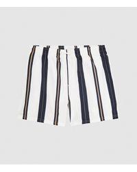 Reiss Tiki - Striped Swim Shorts - White