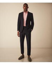 Reiss Jet - Cutaway Collar Regular Fit Shirt - Pink