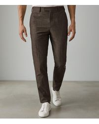 Reiss - Quake - Slim Fit Brushed Cotton Trouser - Lyst