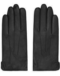 Reiss Leather Gloves - Black