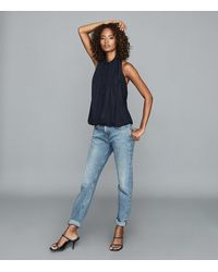 Reiss Nadine - Backless Top - Blue
