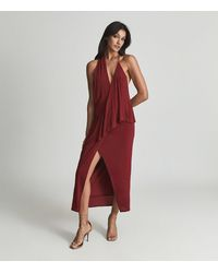 Reiss Xena - Strappy Open Back Cocktail Dress - Red