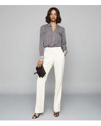 Reiss Coco - Paisley Printed Shirt - White