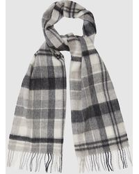 Reiss - Johnson - Checked Scarf - Lyst